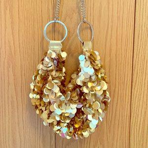 Handbags - SPARKLY GOLD PURSE